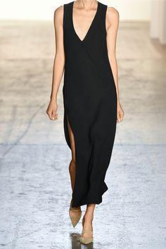 Wes Gordon|Split-front crepe midi dress|NET-A-PORTER.COM
