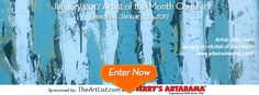 Win a featured showcase as TheArtList.com's February 2017 Artist of The Month. Sponsored by TheArtList.com and online art supply company JerrysArtarama.com. Each month we host a FREE contest to find a talented artist or photographer to feature on TheArtList.com website. The Artist of The Month Contest is open to *ALL* artists and photographers who have not previously been showcased on as Artist of the Month on TheArtList.com: Deadline 1/20/17. http://woobox.com/mteq7t