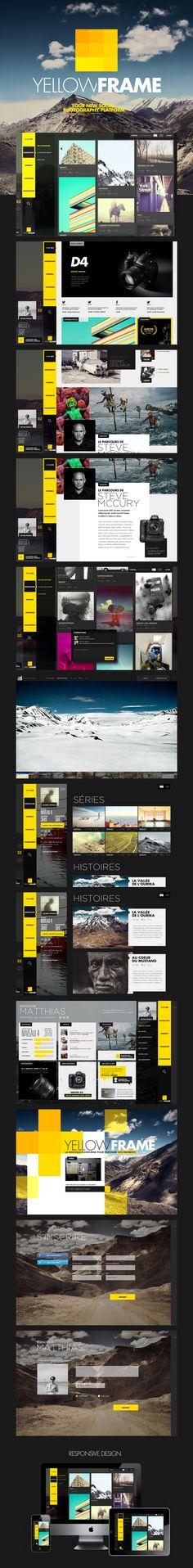 YELLOW FRAME / Thomas Ciszewski #webdesign #ui #design #user #iterface #web