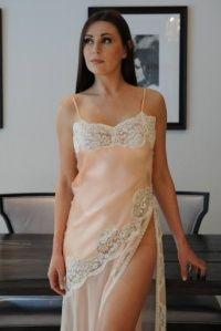 Long Silk Nightdress Jane Woolrich 8372