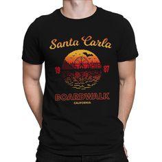 Santa Carla Boardwalk T-shirt for Men or Women. Lost Boys, Boys T Shirts, Cotton Shorts, Tank Man, Unisex, Santa, Mens Tops, Printing Process, Pop Culture