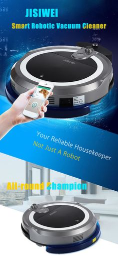 JISIWEI I3 Robotic Vacuum Cleaner App Remote Control Voice Prompt