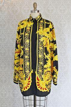 Vintage 1980s Pucci-Esque + Statement Tunic Blouse