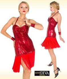 a562e7f0 Yulia in Tango Dress - Rojo Tango custom-made by ESTA DIVA - Stunning Latin