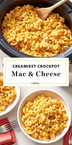 Easy Crockpot Mac and Cheese Recipe. Need recipes and ideas for comfort foods to make for weeknight dinners and meals? This is perfect for cold weather cooking in your crock pot or slow cooker. Easy to make and great for families. You'll need dried elbow pasta noodles, milk, cream cheese, heavy cream, dried mustard, shredded cheese. Perfect if you need ideas for sides or side dishes for bbqs, potlucks, or parties. Great for holidays like Easter, christmas, and thanksgiving too!