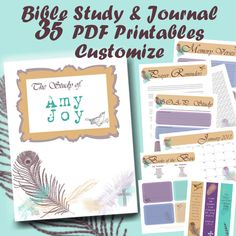 Custom BIBLE Study Journal and Notes includes 35 PDF Printables! With topical study notes, journaling pages, reference guides, calendar pages, memory verses, and tons more! Print as many as you need and put into a binder and keep everything in one place. Great way to start out the new year or to give to a friend as a Christmas gift