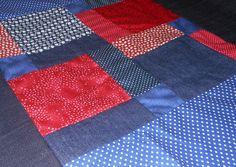 Tapete Infantil Patchwork, MOC Patchwork http://www.elo7.com.br/tapete-patchwork-azul-e-vermelho/dp/47E21B