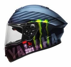 Yamaha Helmets, Yamaha Logo, Motorcycle Helmet Design, Motorcycle Helmets, Ktm Rc, E Skate, Bell Helmet, Races Outfit, Custom Cycles
