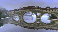 Japanese bridge in Minecraft
