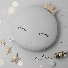 White or Gray Sleepy eyes Crown Moon Pillow Moon cushion for baby nursery pillow kids room decor neutral gender baby shower gift for newborn - Moon Nursery decor, Sleepy eyes Full Moon Pillow Moon cushion, kids pillows baby pillow kids room d - Crib Pillows, Kids Pillows, Pillow Room, Baby Nursery Neutral, Gender Neutral Baby Shower, Newborn Nursery, Baby Newborn, Diy Baby Gifts, Baby Shower Gifts