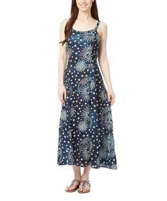 Geeta Navy Sun & Moon Tie-Back Maxi Dress by Geeta #zulily