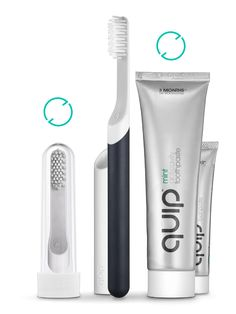 /want. quip electric toothbrush. beautiful design and automatic head replacements ever three months.