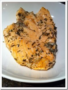 Salmon baked in lemon infused macadamia oil, rosemary and thyme.