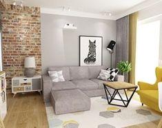 mieszkanie 50m2 w warszawie - Mały salon z bibiloteczką z jadalnią z tarasem / balkonem, styl skandynawski - zdjęcie od Grafika i Projekt architektura wnętrz - homebook