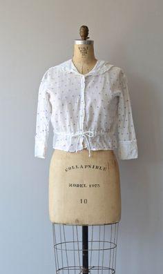 Chemisier édouardienne dot années 1910 coton par DearGolden