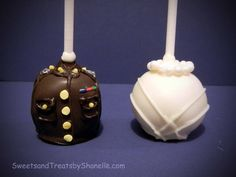 Marine Corps cake pops and bridal cake pops