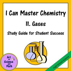 Help your students to understand the properties of gases and the gas laws in your High School Chemistry class. This powerful interactive study guide provides your students with a solid framework to help them organize and learn concepts. Soon your students will be saying, Yes, I Can Master Chemistry!Includes:Kinetic TheoryGas pressureFactors affecting gas pressureGas lawsIdeal gasesIdeal Gas LawMixtures of gasesMovements of gasesThis product is part of a 20-part series.