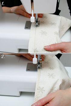 Díl 3. Návod na povlak na polštář a dárkový pytlíček | DůmLátek.cz - e-shop látky, metráž, galanterie Sewing, Dressmaking, Couture, Stitching, Sew, Costura, Needlework