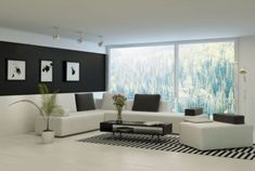 Find Modern Living Room Huge Floor Ceiling stock images in HD and millions of other royalty-free stock photos, illustrations and vectors in the Shutterstock collection. Simple Living Room, Living Room Modern, Living Room Sofa, Living Rooms, Black Painted Walls, Black Walls, Wall Color Combination, Sofa Design, Interior Design