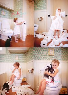 Never would have thought to put a kid on a toilet and take their picture. She has such great ideas. So creative.