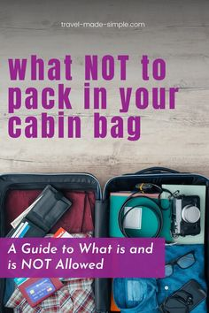 This post is a full guide to what is and is not allowed in your carry on bag. Before you leave for the airport, read our packing tips to avoid getting something confiscated at security. Best Luggage, Carry On Luggage, Carry On Bag, Air Travel Tips, Travel Advice, Travel Bags, Simple Blog, Make It Simple, Luggage Sizes