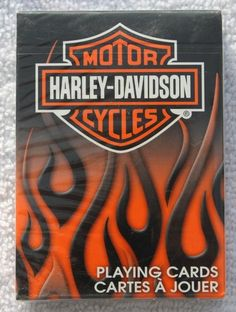Harley Davidson Playing Cards Motorcycle Bicycle Sealed New Flames