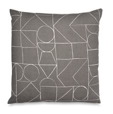 Charcoal Muster Cushion 55cm-cushions-cravehome