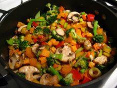 запаченная баранина с овощами