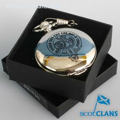MacBean Clan Crest Pocket Watch. Free worldwide shipping available