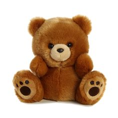 Buy Aurora Luvi Bear online and save! The Luvi Bear is posed in a sitting position with short and stubby limbs, this plush brown teddy bear is a snuggler by design. The fun brown bear colo. Diy Teddy Bear, Teddy Bear Images, Teddy Bear Pictures, Brown Teddy Bear, Cute Teddy Bears, Brown Bears, Kawaii Plush, Cute Plush, Rotulação Vintage
