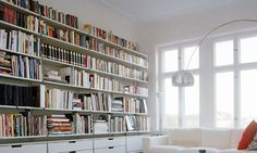 book shelves and alot of light (© Jonas Ingerstedt/Getty Images)