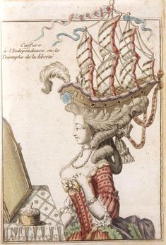 18th century head dresses - full sailing ship! It can never be too much LOL