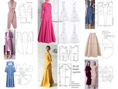 Mold Suggestions for Design - NEBİHAN AKÇA - Dikiş, Moda, Tasarım dress vintage dress aesthetic dress Dress Sewing Tutorials, Sewing Hacks, Burda Patterns, Sewing Patterns, Formation Couture, Cute Dresses, Vintage Dresses, African Design, Sewing Clothes