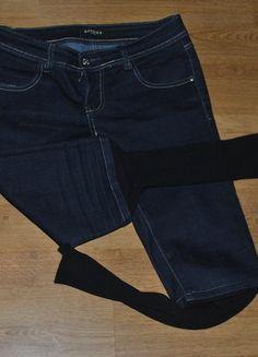 Kup mój przedmiot na #vintedpl http://www.vinted.pl/damska-odziez/rurki/2741348-spodnie-jeansowe-z-getramina-dole-nogawki