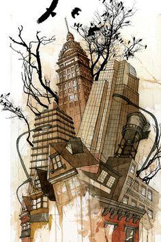 Graphic Dutch Artist Hilly Van Eerten Collage Print By