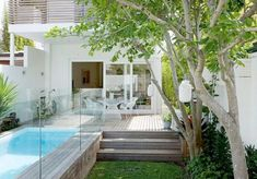 Small swimming pool to fit into courtyard: 50 Small Urban Garden Design Ideas And Pictures