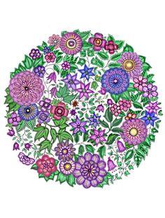 Adult Coloring Books Colouring Mandala Design Johanna Basford Secret Garden Flower Doodles Art Therapy Pictures Zentangle