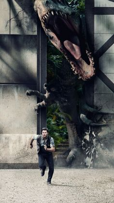 Jurassic World. Tap to check out Awesome Jurassic World Movie iPhone Wallpapers Collection! Jurassic Park, Dinosaurs - Gonna see this next week! Michael Crichton, T Rex Jurassic Park, Jurassic Park World, Video Games Funny, Funny Games, World Of Warcraft, Xenoblade X, Jurassic World Wallpaper, King's Quest