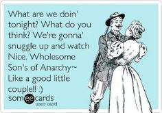 Sons of Anarchy: Total Obsession. My husband hates SOA. I can't even look at him when my show is on. haha
