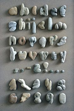 pebble alphabet...will have to keep an eye out on beach walks