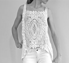 DIY crochet top.