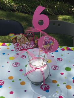 Barbie Party Decorations, Barbie Theme Party, Barbie Birthday Cake, Birthday Party Centerpieces, 4th Birthday Parties, 5th Birthday, Lego Friends Party, Dream Party, Little Girl Birthday