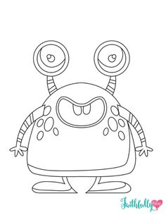 Monster Coloring Pages Free Printables Monsters Free printables