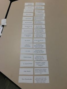 I have Who Has Vocab Game- great idea to review for test!
