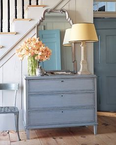 Odd to get inspiration for wedding colors from a room?  I want champagne and periwinkle