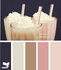 navy cream brown pink