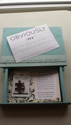 How I asked my bridesmaids to be in my wedding! Wedding Party Favors, Wedding Fun, Fall Wedding, Dream Wedding, Wedding Ideas, Ask Bridesmaids To Be In Wedding, Asking Bridesmaids, From Miss To Mrs, May Weddings
