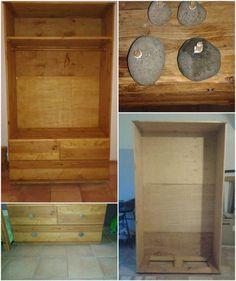 Armoire En Palettes Recyclées / Pallet Wardrobe