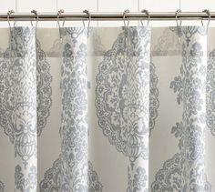 Lucianna Medallion Shower Curtain | Pottery Barn