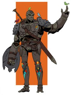 [Art] Karn the protector my first ever dnd character Fantasy Character Design, Character Design Inspiration, Character Concept, Character Art, Character Ideas, D D Characters, Fantasy Characters, Warforged Dnd, Dungeons And Dragons Art